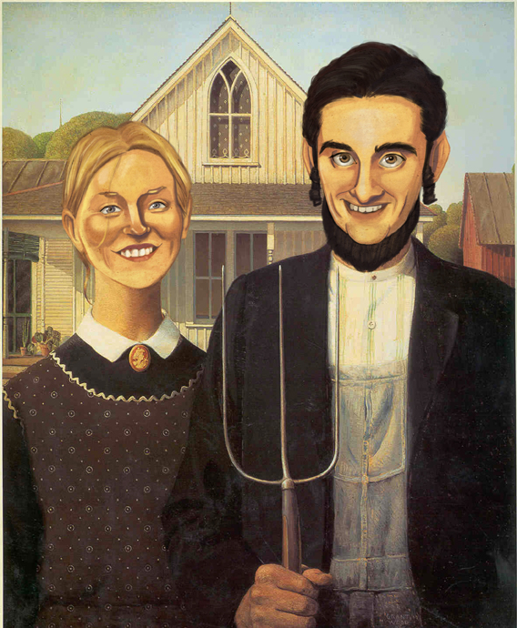 Wedding Taylor and Jo American Gothic
